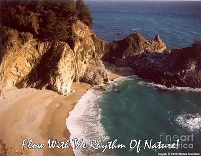 Photograph - Big Sur Water Falls by Marlene Rose Besso