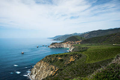Photograph - Big Sur Land And Seascape by Priya Ghose