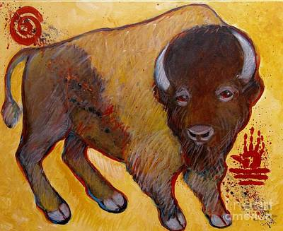Painting - Big Tatanka Buffalo by Carol Suzanne Niebuhr
