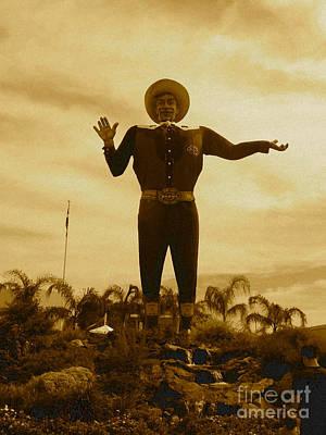 Tex Photograph - Big Tex by Angela Wright