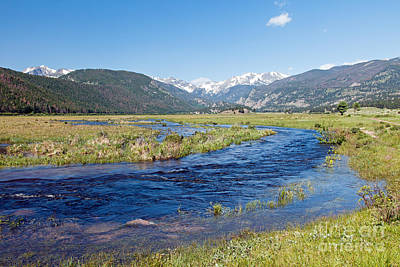 Photograph - Big Thompson River In Moraine Park In Rocky Mountain National Park by Fred Stearns
