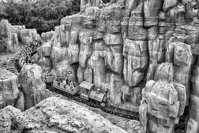 Photograph - Big Thunder Mountain Railroad by Howard Salmon