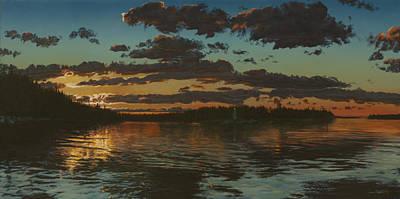 Big Tub Sunset Art Print by Michael Marcotte