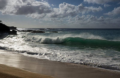 Clouds - Big Wave at Waimea Bay - North Shore - Oahu - Hawaii by Georgia Mizuleva