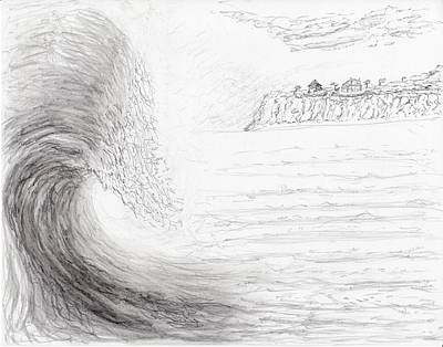 Drawing - Big Wave Day by Jim Taylor