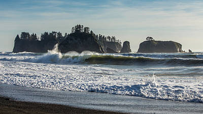 Olympic National Park Photograph - Big Waves On Rialto Beach by Pierre Leclerc Photography