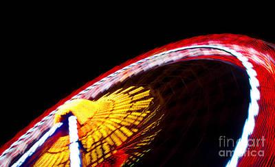 Photograph - Big Wheel At Speed by David Warrington