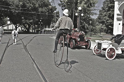 Photograph - Big Wheel Bicycle by SC Heffner