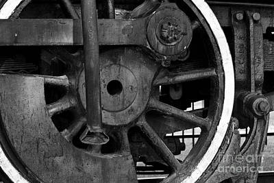 Photograph - Big Wheel Bw by Lawrence Burry