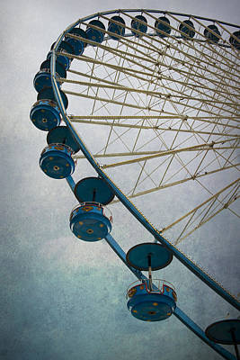Big Wheel In Blue Art Print