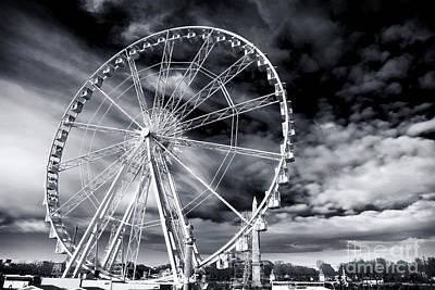 Art In Public Places Photograph - Big Wheel In Paris by John Rizzuto