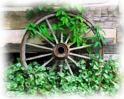 Wooden Wheels Photograph - Big Wheel by Mel Steinhauer