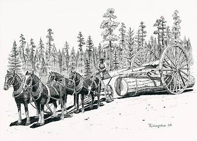 Drawing - Big Wheels by Timothy Livingston