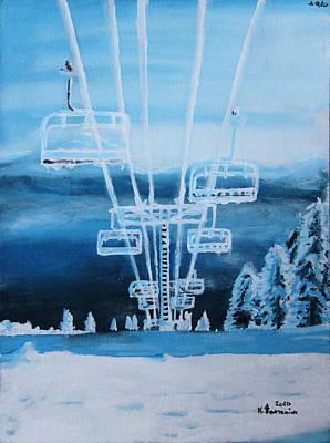 Snowboard Painting - Big White by Kayleigh Semeniuk