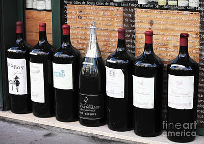 Paris Wine Bottles Photograph - Big Wine by John Rizzuto