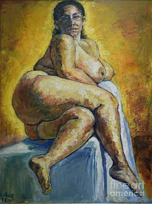 Painting - Big Woman by Raija Merila