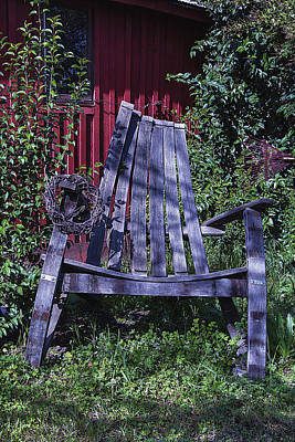 Handmade Photograph - Big Wooden Chair by Garry Gay