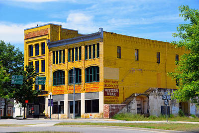 Big Yellow Buildings Art Print by David Lee Thompson