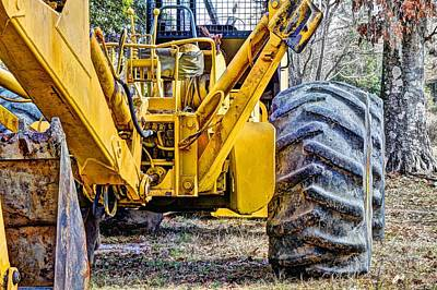 Backhoe Photograph - Big Yellow by JC Findley