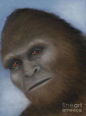 Bigfoot Painting - Bigfoot The Unexpected Encounter by Rebekah Sisk