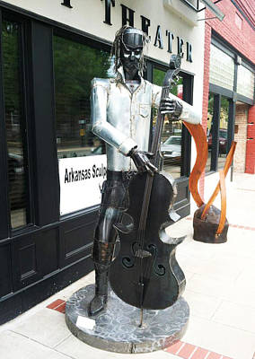 Welded Music Sculpture - Bigger Bass by Hunter Brown
