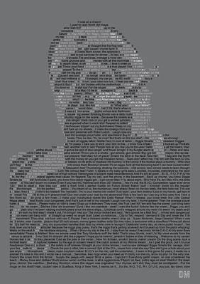 Christopher Wallace Digital Art - Biggie Lyric Potrait by Donal Murphy