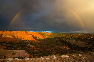 Photograph - Bighorn Basin Rainbow 2 by Leland D Howard