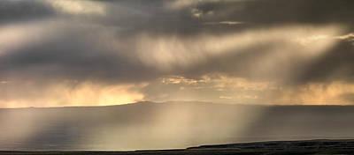 Photograph - Bighorn Basin Thunder And Light by Leland D Howard