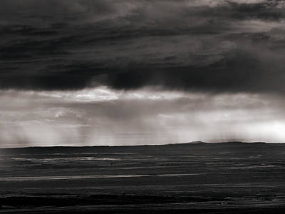 Bighorn Basin Thunder Shower Art Print