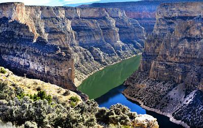 Bighorn River And Canyon Art Print