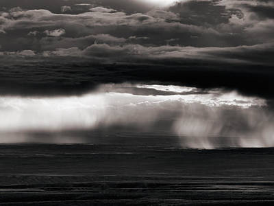 Photograph - Bighorn Valley Storm Light by Leland D Howard