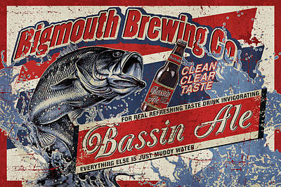 Largemouth Painting - Bigmouth Brewing by JQ Licensing