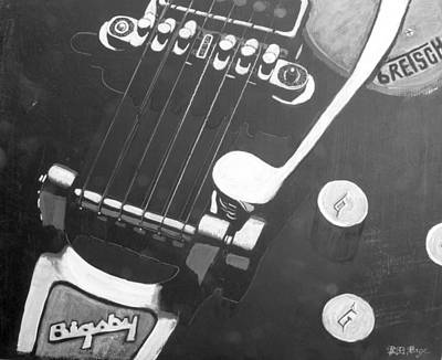 Gretsch Painting - Bigsby Gretsch by Richard Le Page