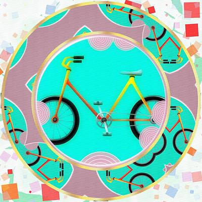 Lyrical Digital Art - Bike Abstract by L Wright