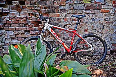 Photograph - Bike Against Brick by Linda Brown