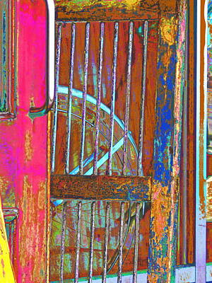 Painting - Bike And Door Bars Old Port Festival by Expressionistart studio Priscilla Batzell