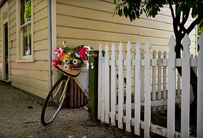 Photograph - Bike And Fence by Jenny Setchell
