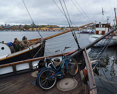Photograph - Bike And Sailboat by Evgeny Lutsko