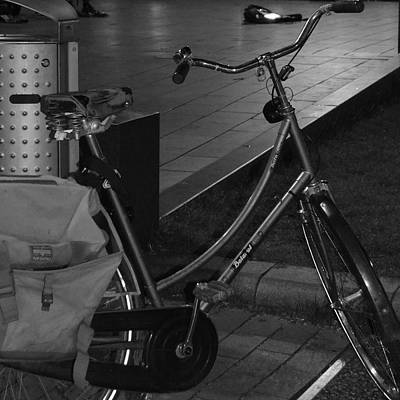 Photograph - Bike At Night by Cheryl Miller