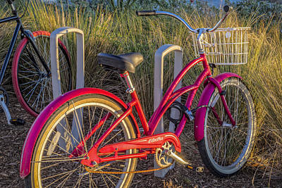 Photograph - Bike At The Beach by Debra and Dave Vanderlaan