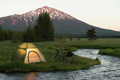 Photograph - Bike Camping by Garyalvis