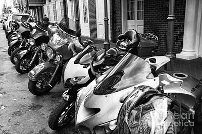 Photograph - Bike Day In New Orleans Mono by John Rizzuto
