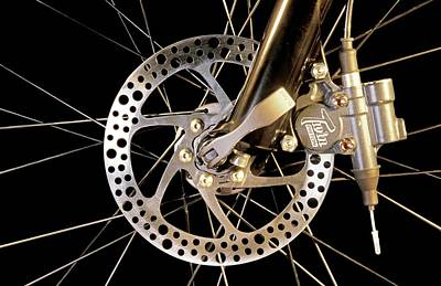 Bicycle Photograph - Bike Disc Brake by Patrick Landmann
