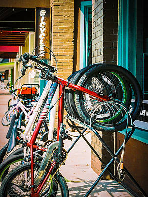 Photograph - Bike For Rent by Jeff Mize