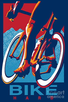 Bike Hard Art Print