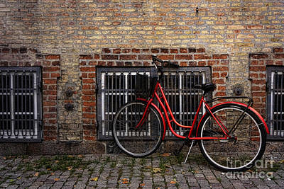 Photograph - Bike In Old Copenhagen by Inge Riis McDonald