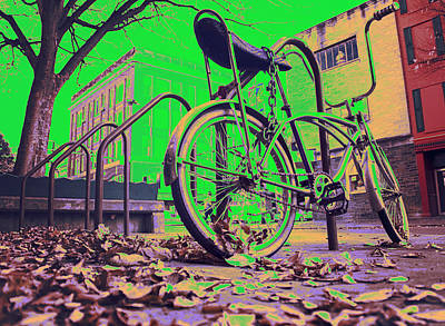 Bicycle Digital Art - Old School Bicycle by KJ DePace