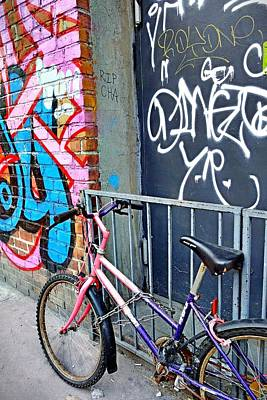 Photograph - Bike On East First  Nyc by Joan Reese