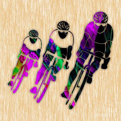 Tour De France Mixed Media - Bike Painting by Marvin Blaine