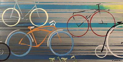 Bike Path I Art Print by Vivian Mora